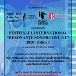 Afis FIRSO Festivalul International Rezonante Sonore Online 2020 I