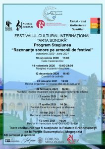 afis Program Stagiunea de Recitaluri Rezonante Sonore pe Armonii de Festival
