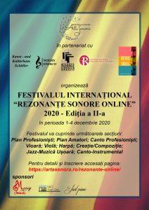afis Festival International Rezonante Sonore Online 2020 II